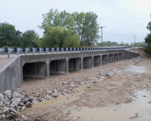Pleasanton Spillway - Finished bridge