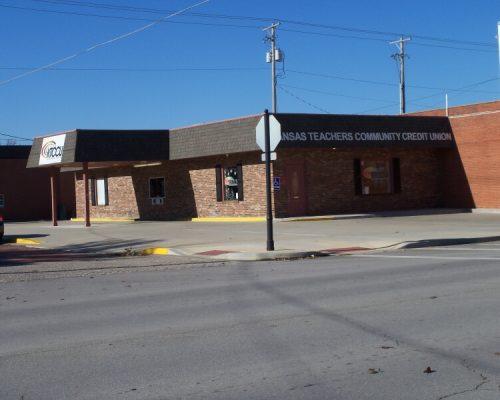 Parking lot at Kansas Teachers Community Credit Union in Fort Scott, KS