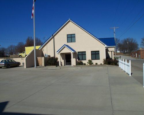 Finished parking lot at The Ellis Foundation Building in Fort Scott, KS