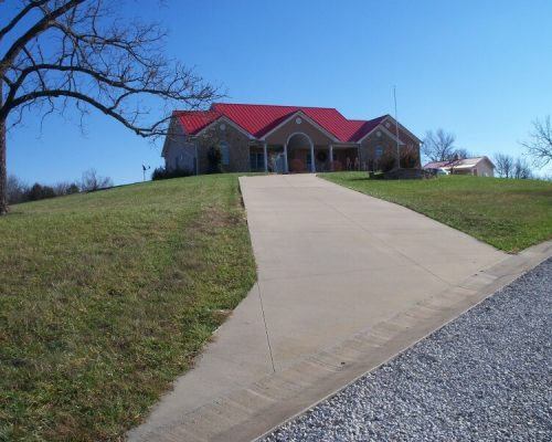 Finished driveway at a residence in Fort Scott, KS