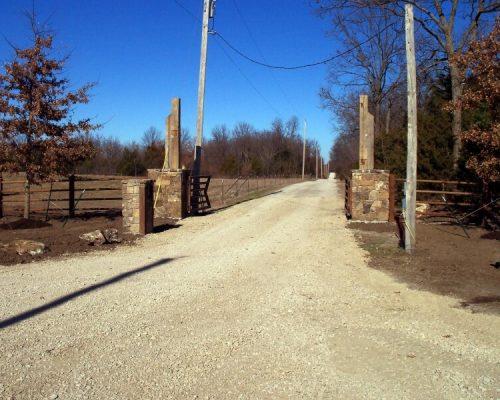 Gate Entrance at a residence in Fort Scott, KS