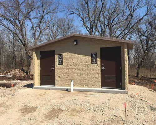 After - Restrooms at Crawford State Lake