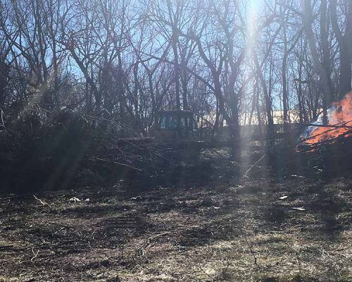 Clearing Land in Fort Scott