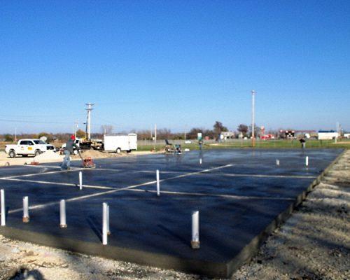 Concrete Pad for Moran Baptist Church in Moran,KS
