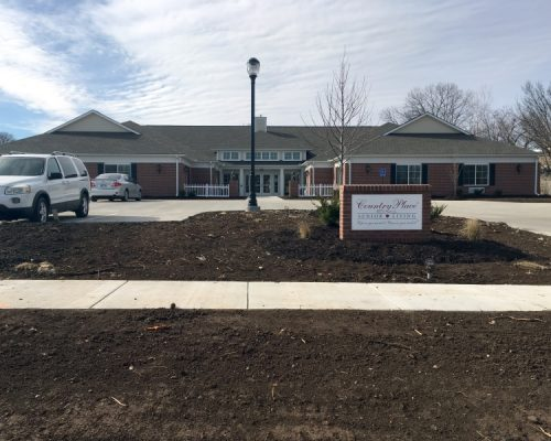 Concrete Pad Parking Lot and Sidewalks at Country Place Senior Living in Fort Scott, KS