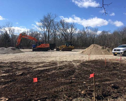 Excavation Work at Crawford State Park