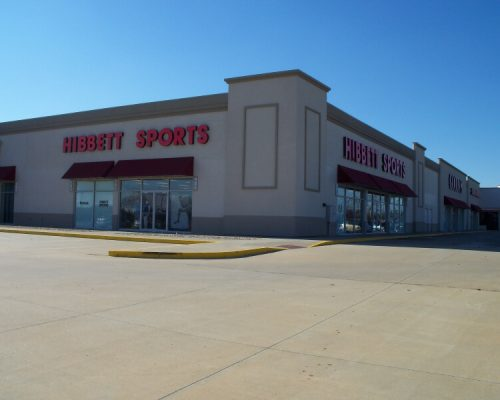 Finished parking lot in front of Hibbetts Sports in Pittsburg, KS