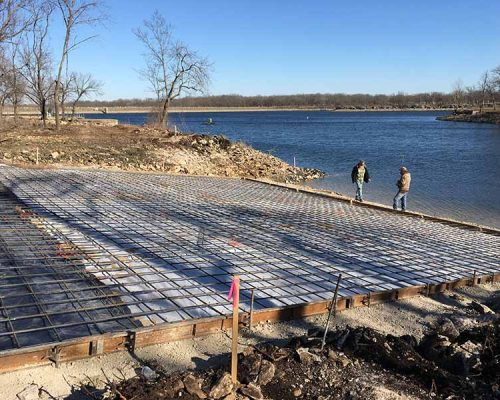 Form Work for the Push-in Section of a Huge Boat Ramp at Crawford State Park