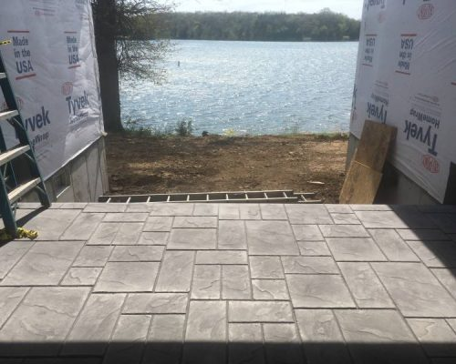 Lake Fort Scott, stamped concrete