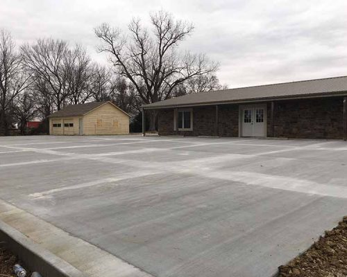 Parking Lot for New clinic in Nevada, MO