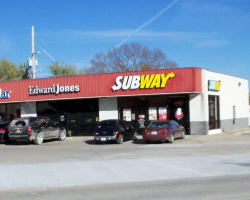 Restored Concrete Entrance to Subway South National, Fort Scott, Kansas.